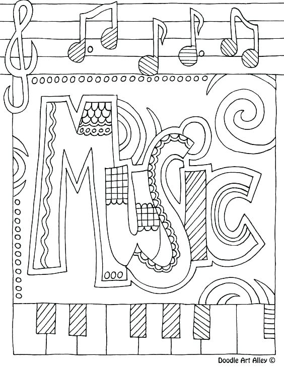 564x729 Music Coloring Pages For Kindergarten Instrument Coloring Pages