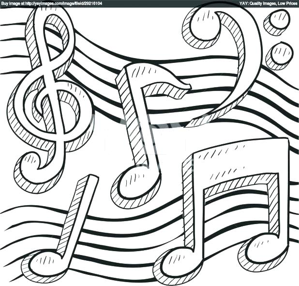 618x591 Music Coloring Pages Printable Music Notes Coloring Page Royalty