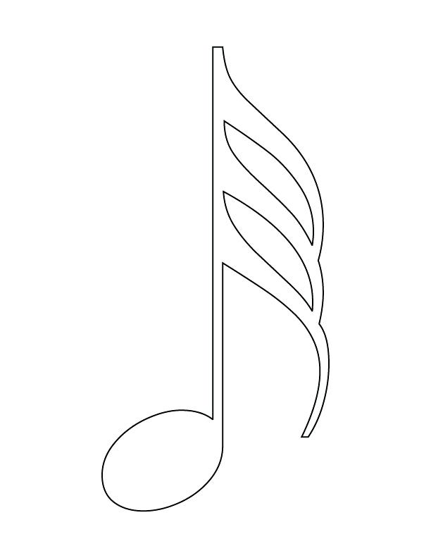 612x792 Music Notes Coloring Pages Free Printable Music Note Coloring