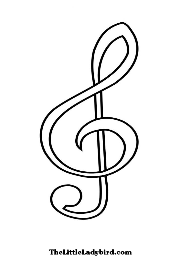 728x1029 Musical Note Coloring Pages To Print