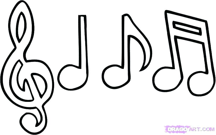 822x517 Printable Musical Notes Awesome Free Printable C Notes Coloring