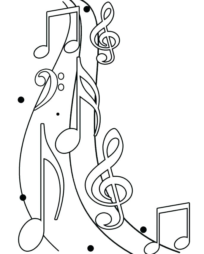 687x857 Printable Musical Notes Coloring Pages