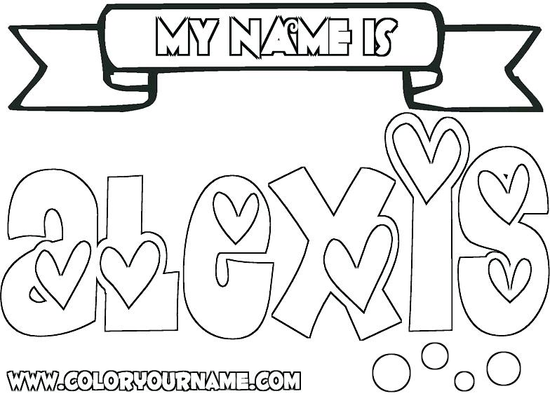 784x565 Names Coloring Pages Color Your Name Free Printable On Names