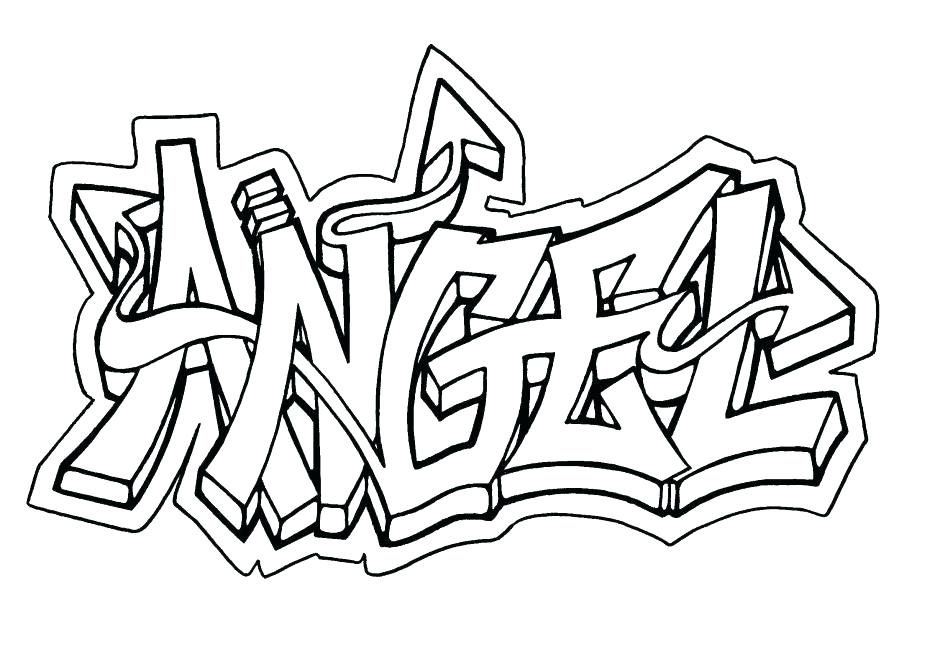 940x646 Printable Graffiti Coloring Pages Printable Name Coloring Pages