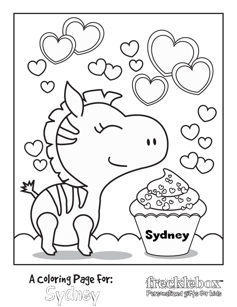 816x1056 Personalized Coloring Pages Free Printable