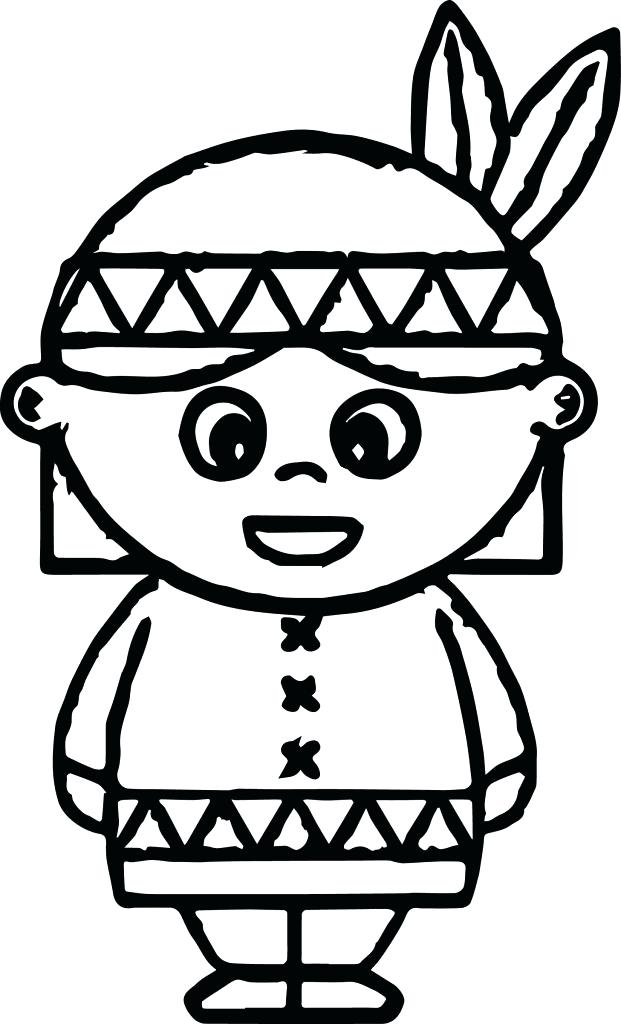 621x1024 Native American Coloring Page Native Warrior On Native Day
