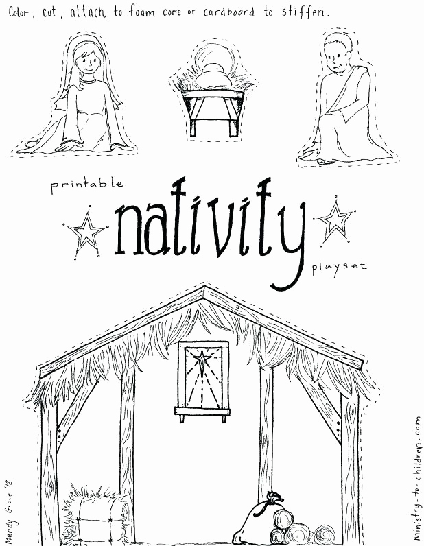 picture about Free Printable Nativity Scene identify Totally free Printable Nativity Coloring Web pages at