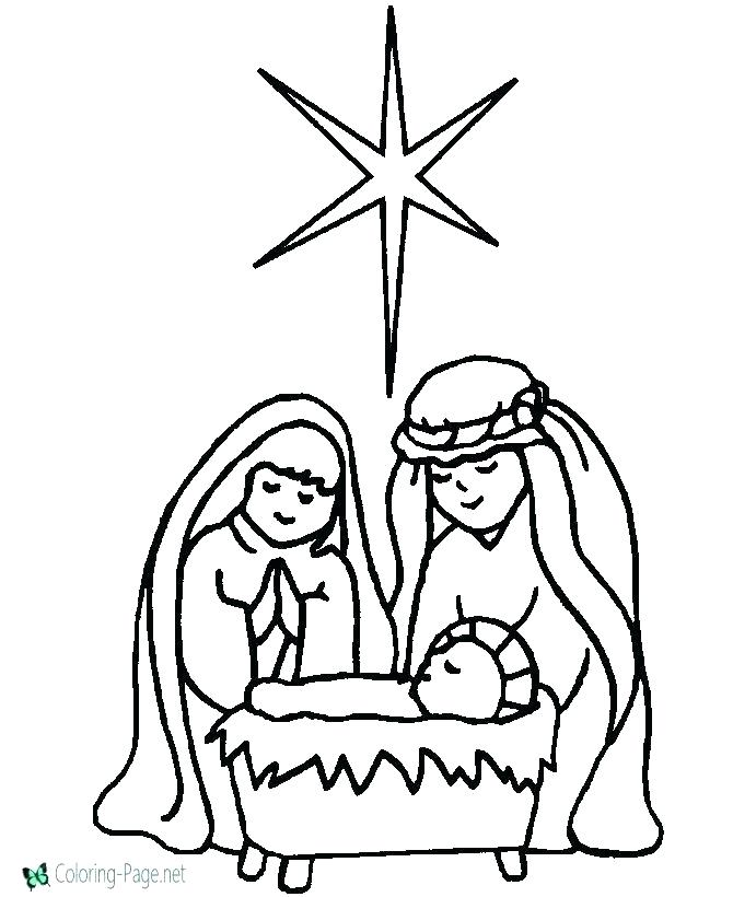 670x820 Nativity Scene Coloring Pages Printable Nativity Scene Coloring
