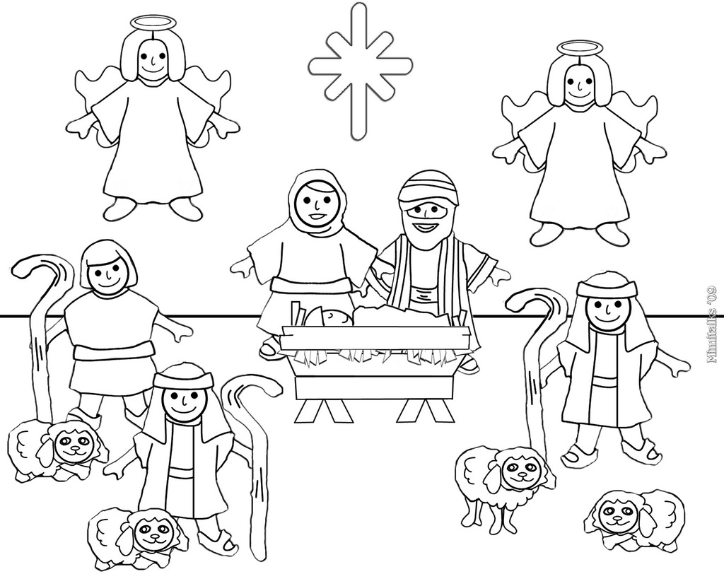 Free Printable Nativity Coloring Pages at GetDrawings.com | Free for ...
