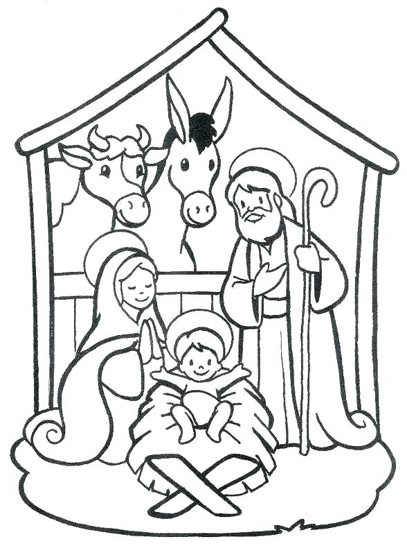 Free Printable Nativity Scene Coloring Pages For Kids