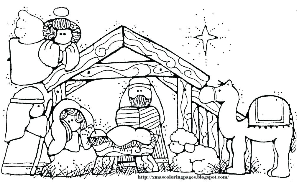 Free Printable Nativity Scene Coloring Pages At Getdrawings Com