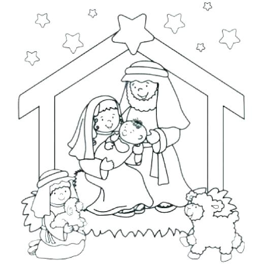 520x520 Nativity Coloring Pages Related Post Nativity Scene Coloring Pages