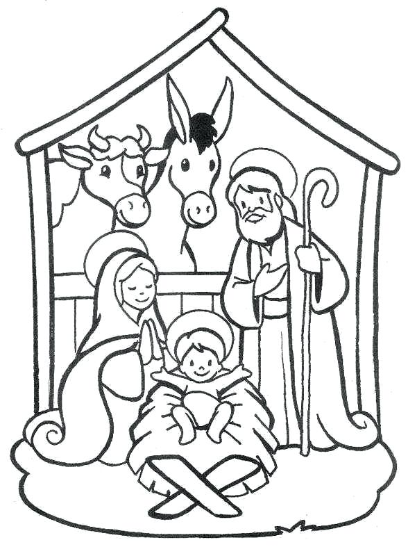 588x800 Nativity Colouring Page School Nativity Scene Coloring Pages