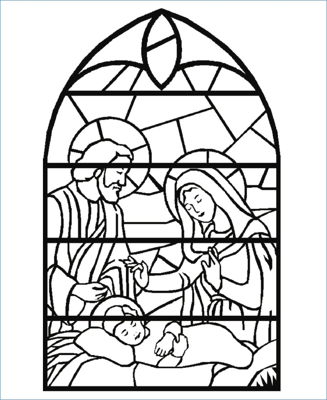 670x820 Baby Jesus Christmas Coloring Pages For Kids