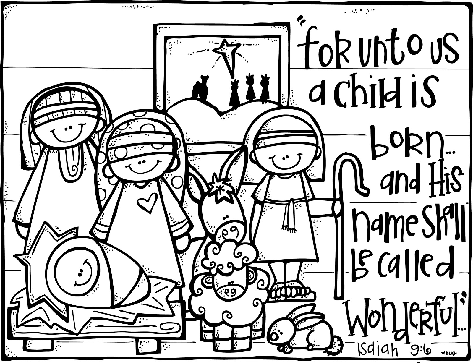 1600x1228 Free Printable Happy Birthday Jesus Coloring Pages Manger Scene