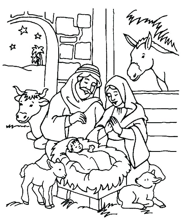 652x779 Free Nativity Scene Coloring Pages Nativity Scene Coloring Page