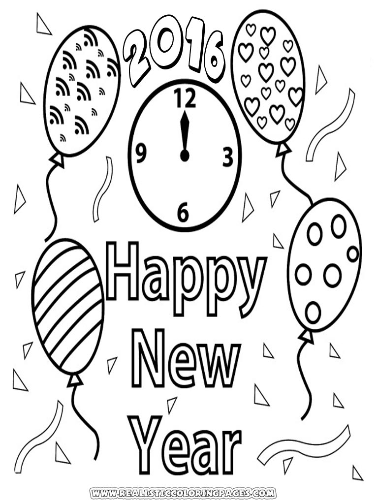 Free Printable New Years Coloring Pages At Getdrawings Com Free