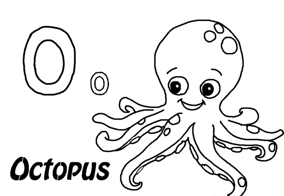 960x665 Free Printable Octopus Coloring Pages