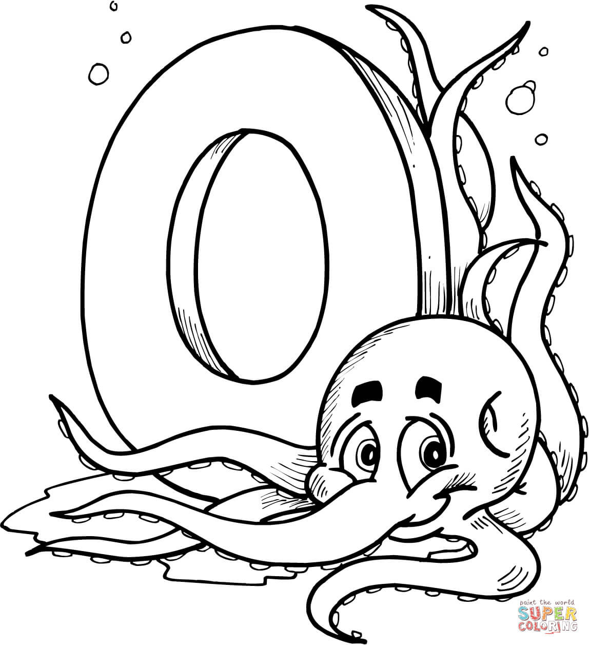 1148x1256 Letter O Is For Octopus Coloring Page Free Printable Pages