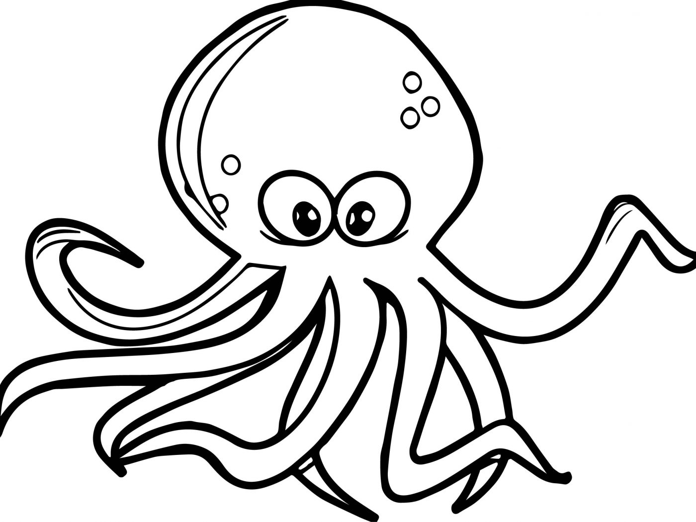 1400x1050 Musky Octopus Coloring Page Free Printable Pages Animals Preschool
