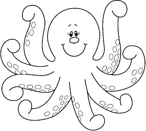512x461 Octopus Color Page Free Printable Octopus Coloring Pages For Kids
