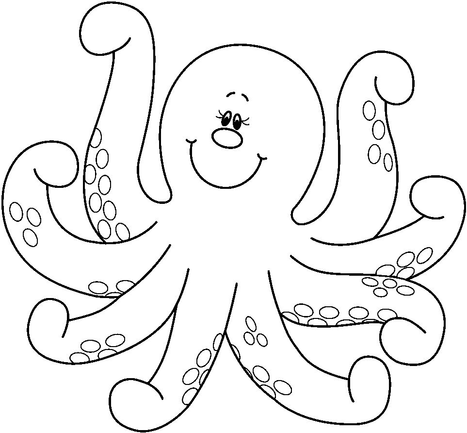 963x892 Octopus Coloring Pages
