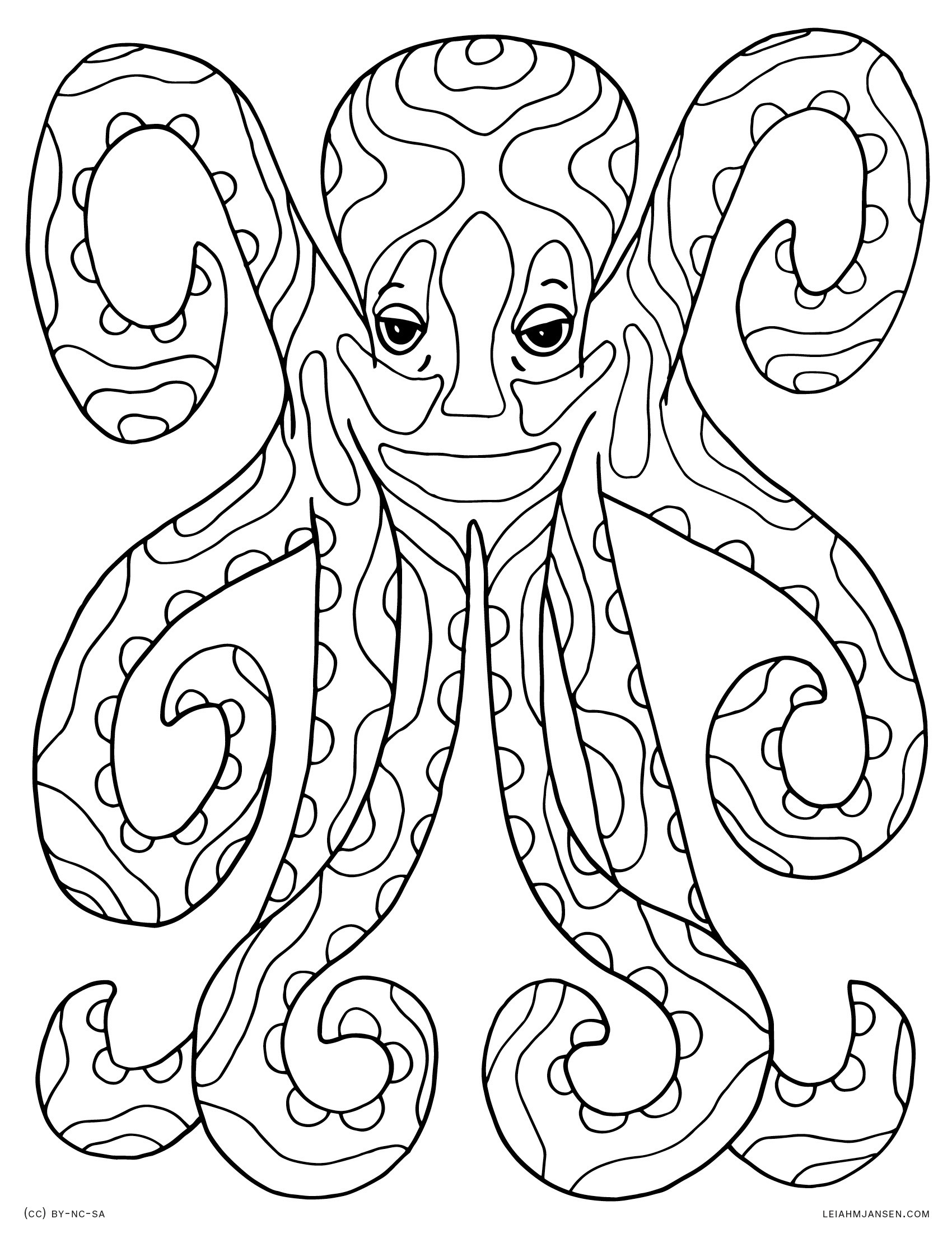 1700x2200 Octopus Coloring Pages Lovely Coloring Pages Free Draw To Color
