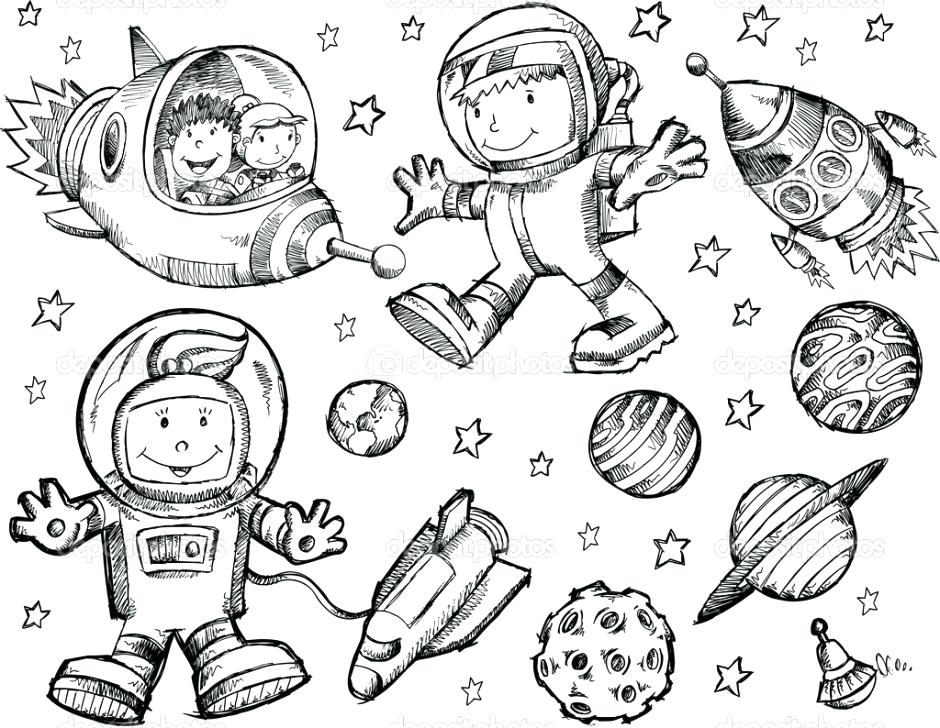 940x728 Outer Space Coloring Pages Outer Space Coloring Page Free