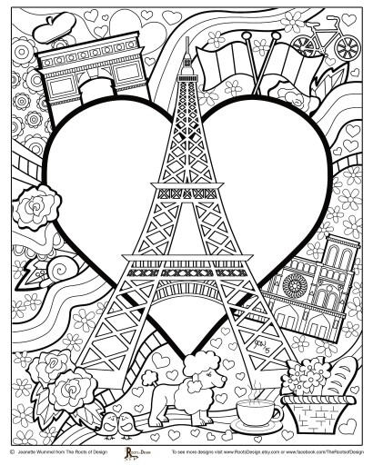 410x512 Paris Coloring Pages Preschool In Good Download Free Coloring