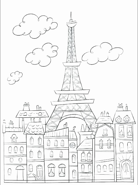 477x640 Paris Eiffel Tower Coloring Pages Photos Eiffel Tower Coloring