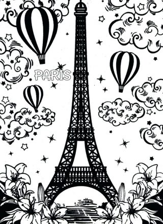 320x438 Coloring Pages Paris France To Print Free Printable Photo Concept