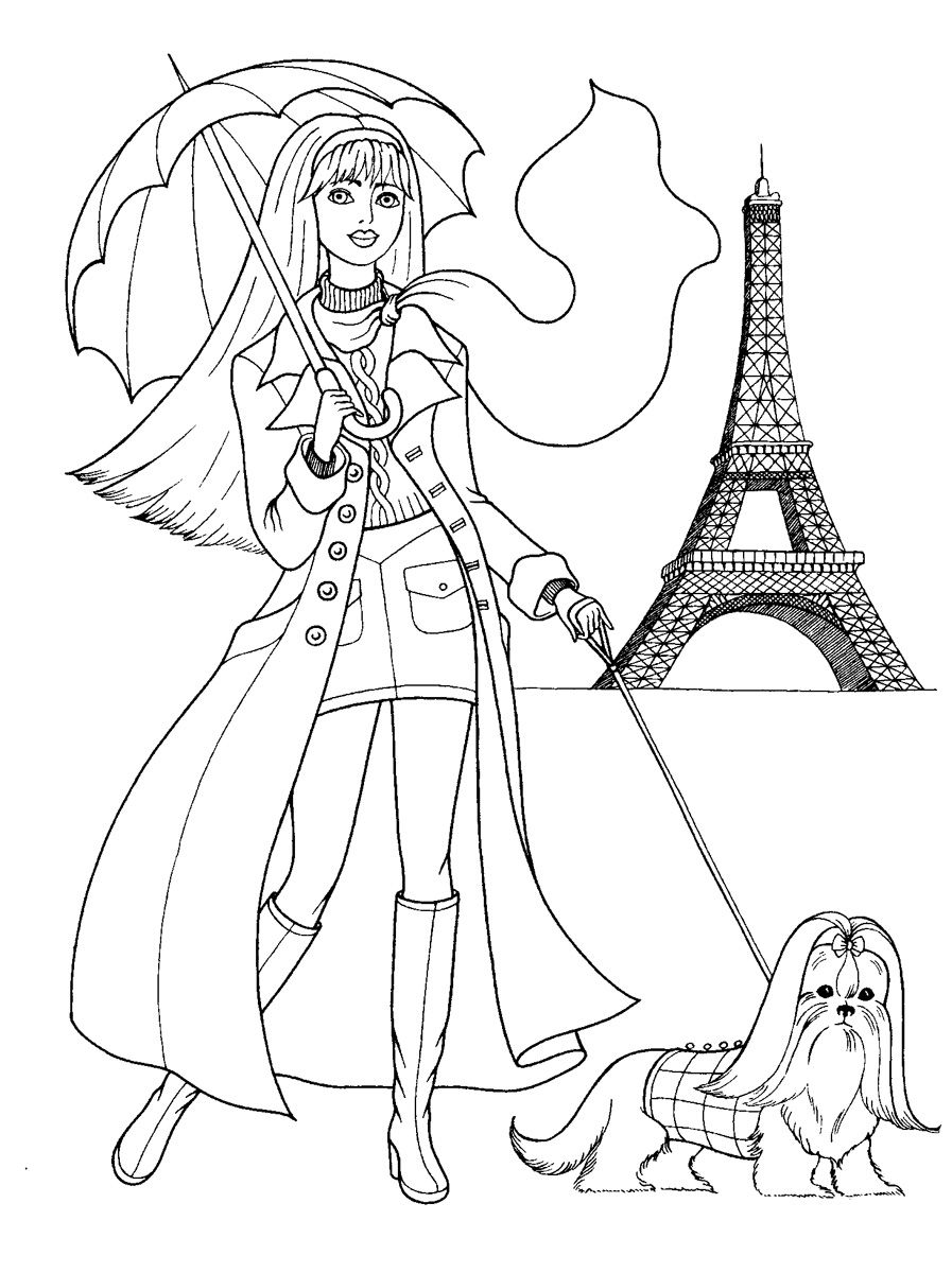 897x1200 Fashion Coloring Pages Fashionable Girls Picture Coloring