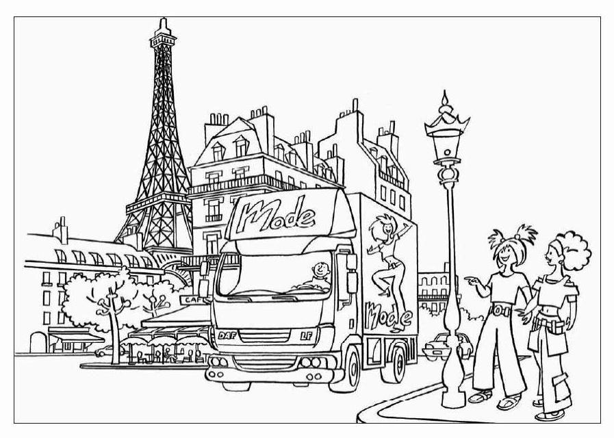 897x640 Paris Coloring Pages For Kids Famous Places Pyramids Golden Gate