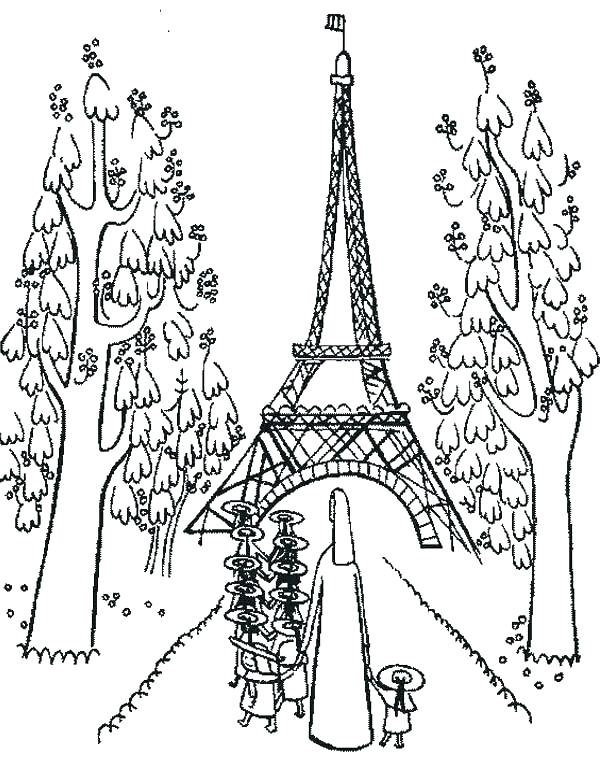 600x780 Eiffel Tower Coloring Page Ng Sheets Tower Ng Sheet The On Ng