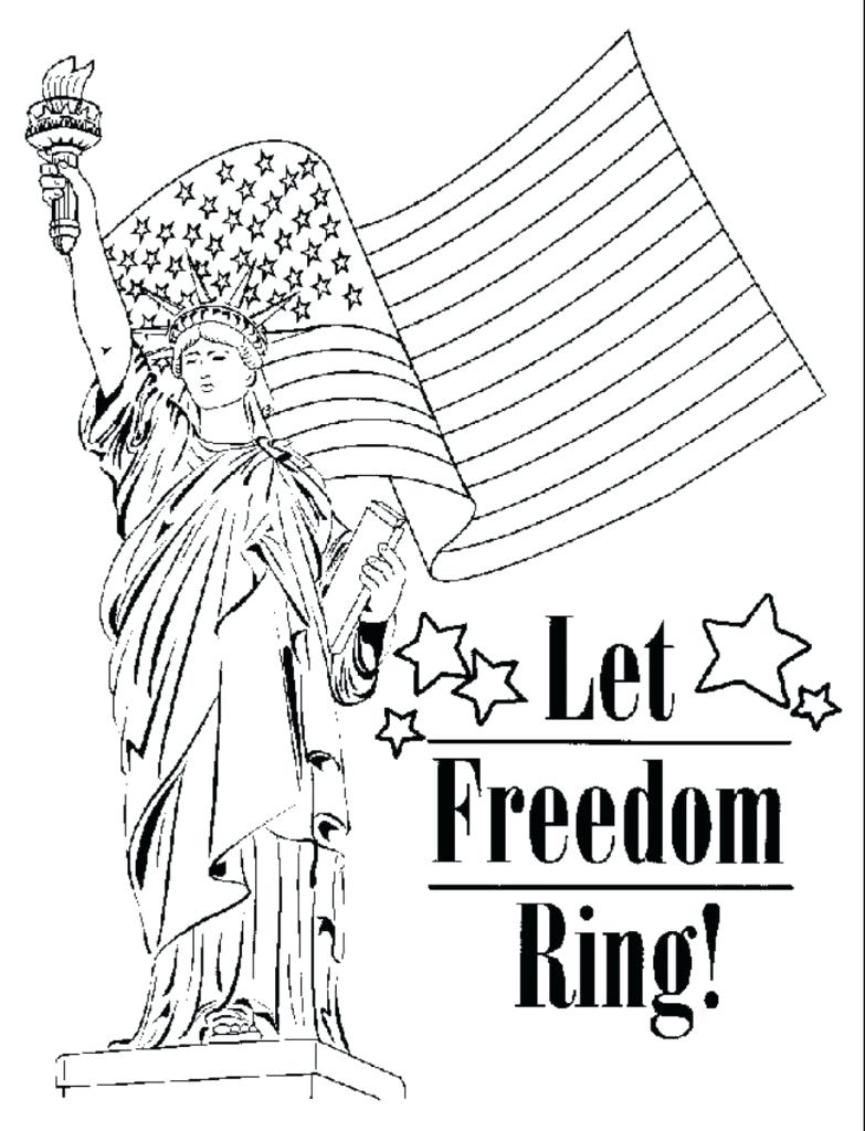 Free Printable Patriotic Coloring Pages