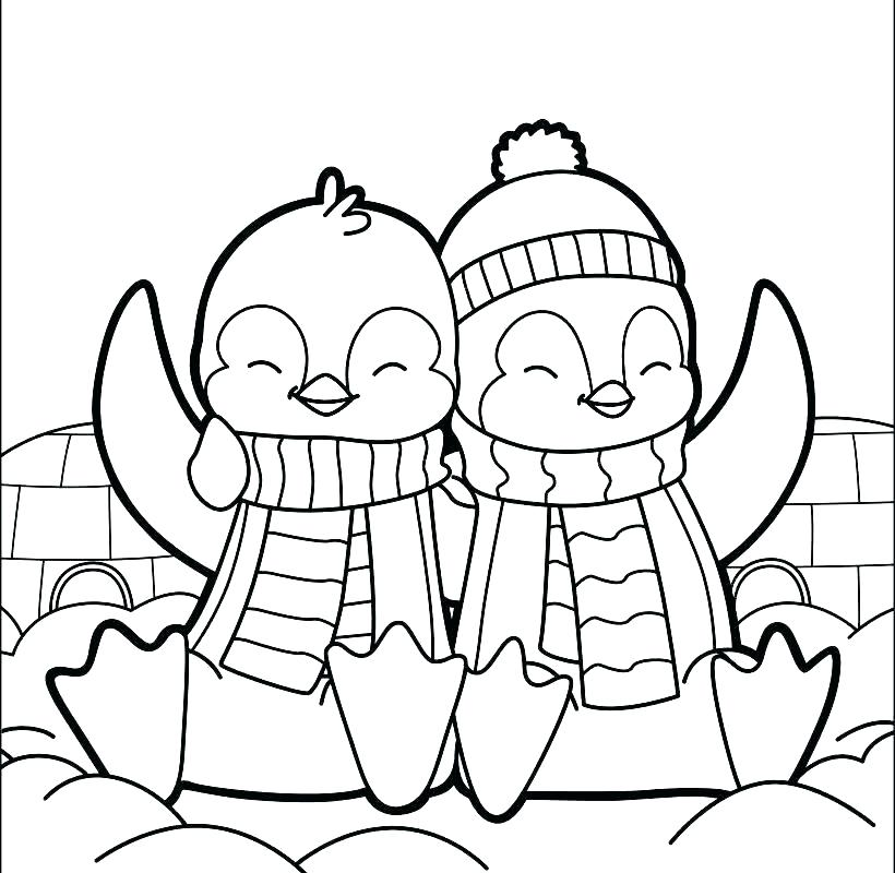 820x800 Coloring Pages Of Penguins Free Printable Penguins Of Coloring