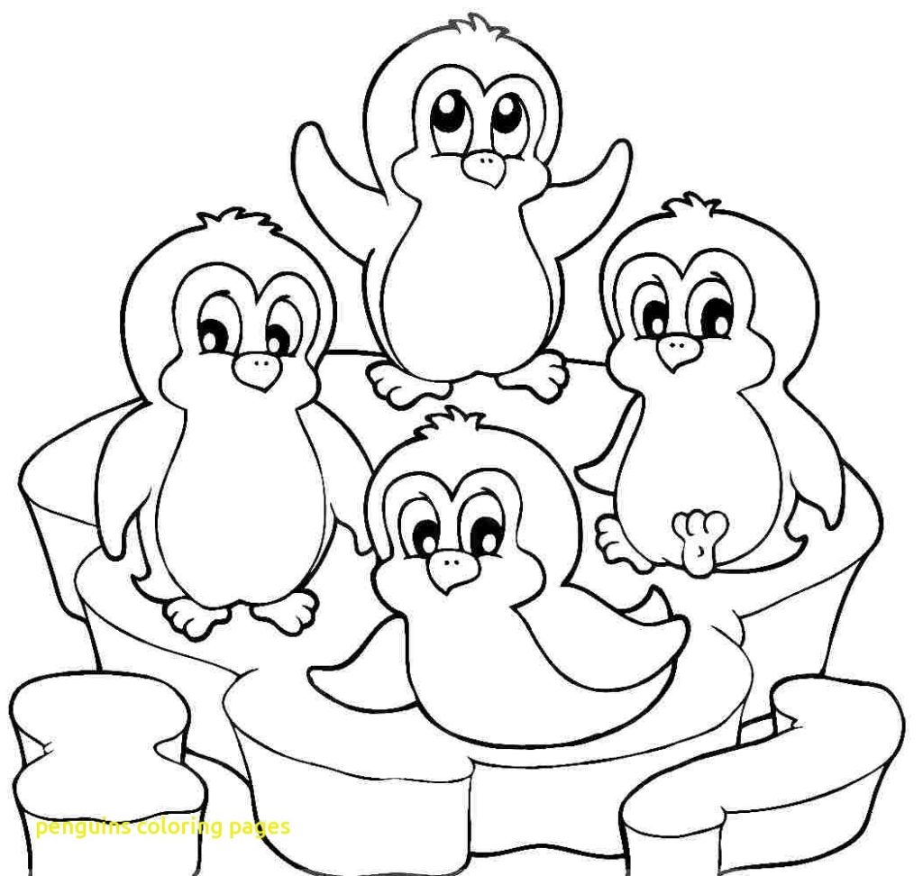 1024x972 Penguins Coloring Pages With Penguin Free Printable Within Page