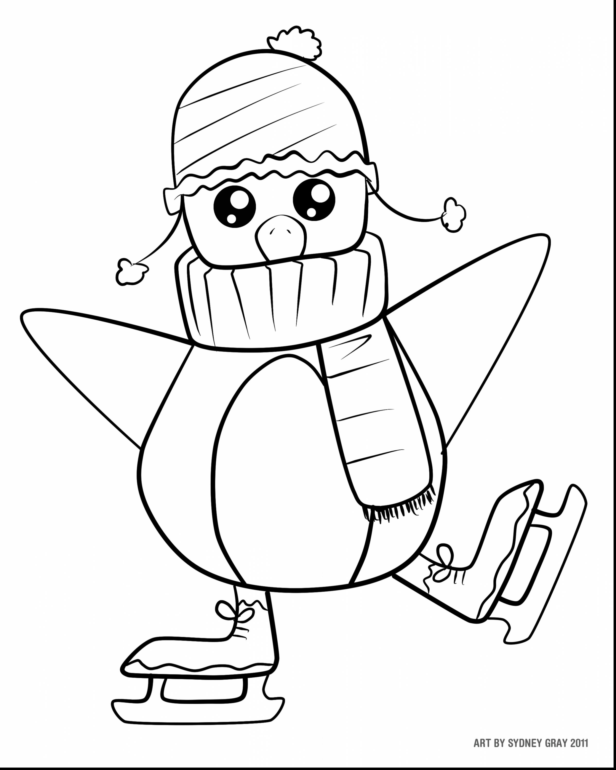 2534x3168 Christmas Penguin Coloring Pages Free