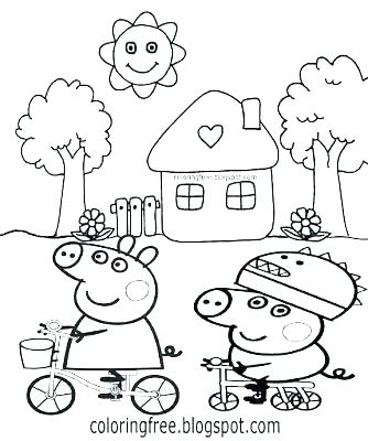 334x400 Peppa Pig Coloring Page Peppa Pig Coloring Pages Free Printable