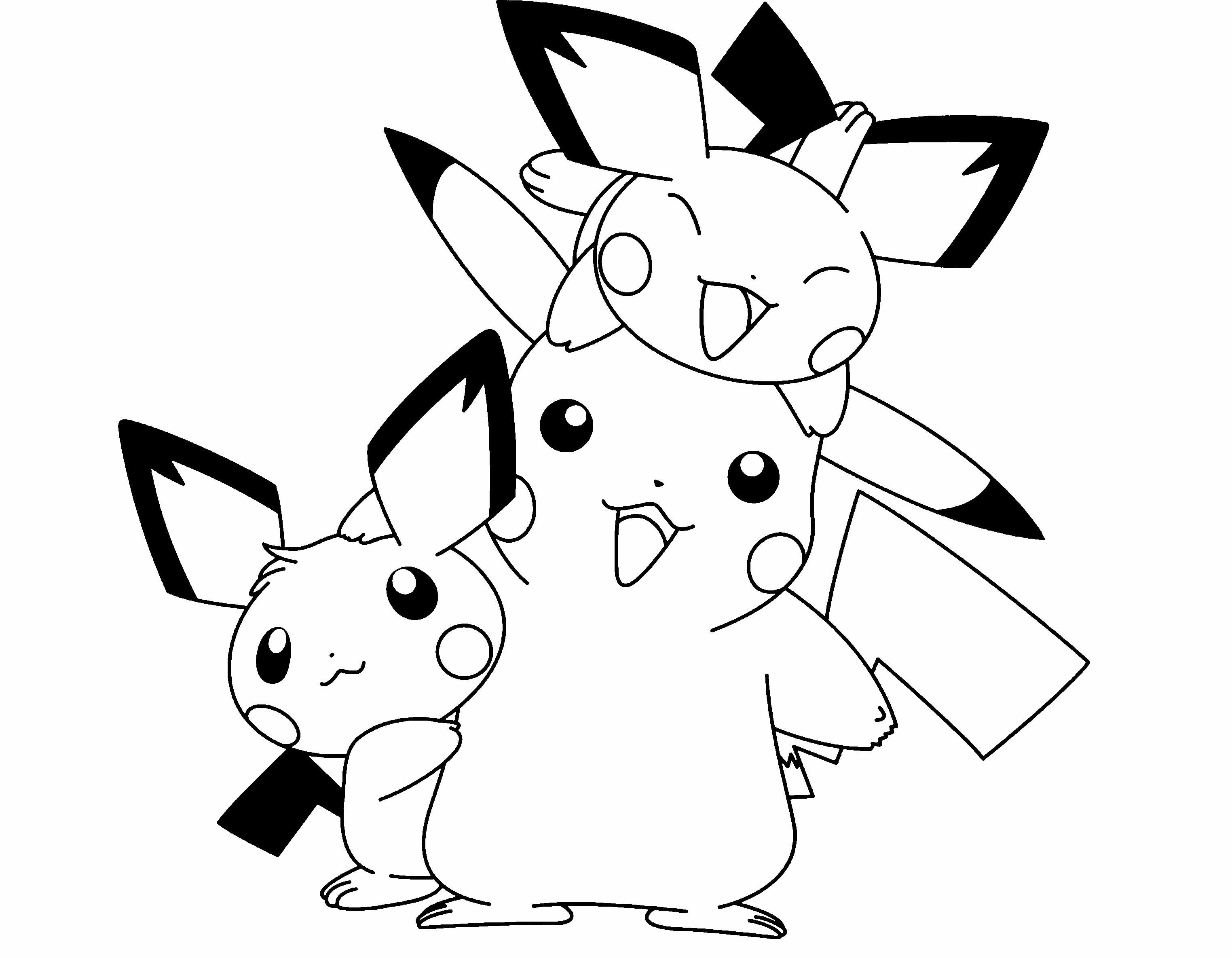 3047x2369 Free Printable Pikachu Coloring Pages For Kids Incredible Cute