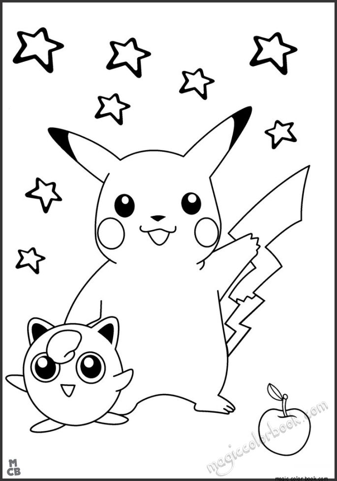 685x978 Pikachu Coloring Pages Free