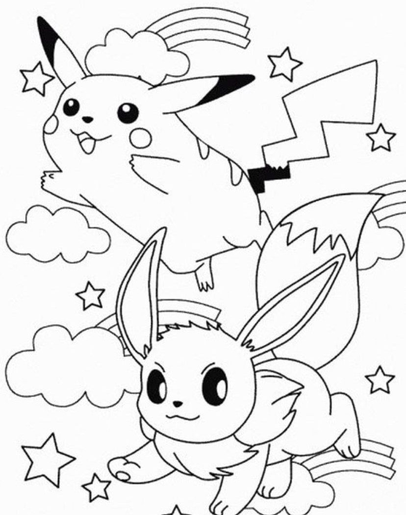 828x1050 Coloring Pichu Pages Pikachu And General Of Mega Pokemon Ash Free