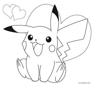 300x274 Free Printable Pikachu Coloring Pages For Kids Valentine's Day
