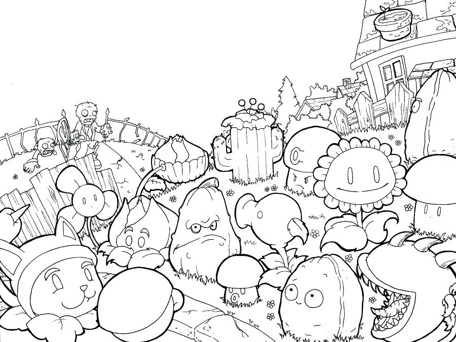 900x675 Plants Coloring Pages Plants Vs Zombies Coloring Pages To Print