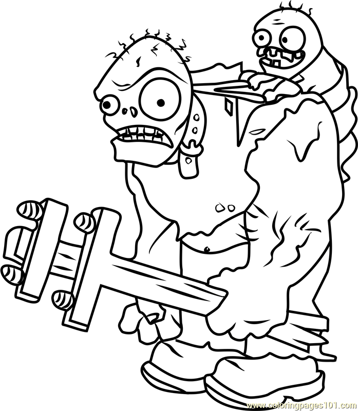 697x800 Plants Vs Zombies Coloring Pages Coloring Pages For Kids