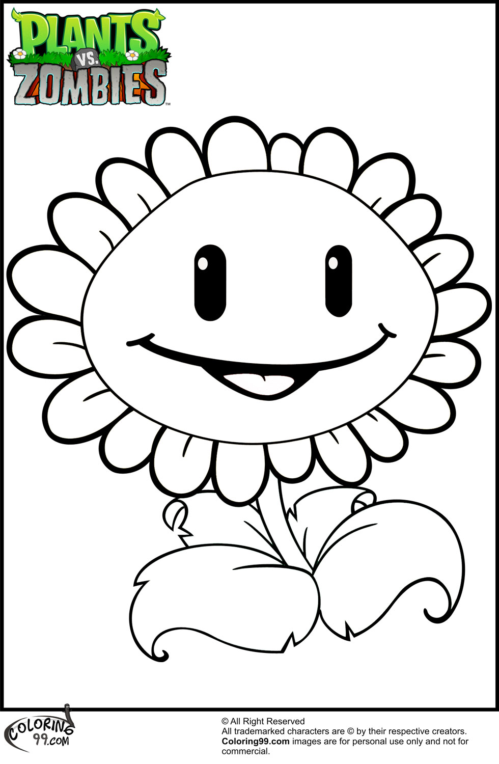 980x1500 Excellent Ssuivx At Plants Vs Zombies Coloring Pages On With Hd