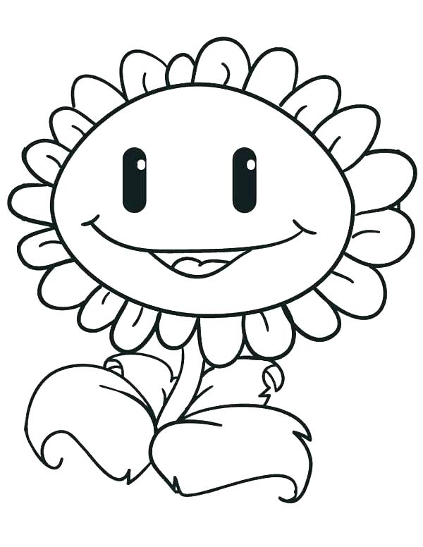 600x776 Plants Vs Zombies Coloring Page