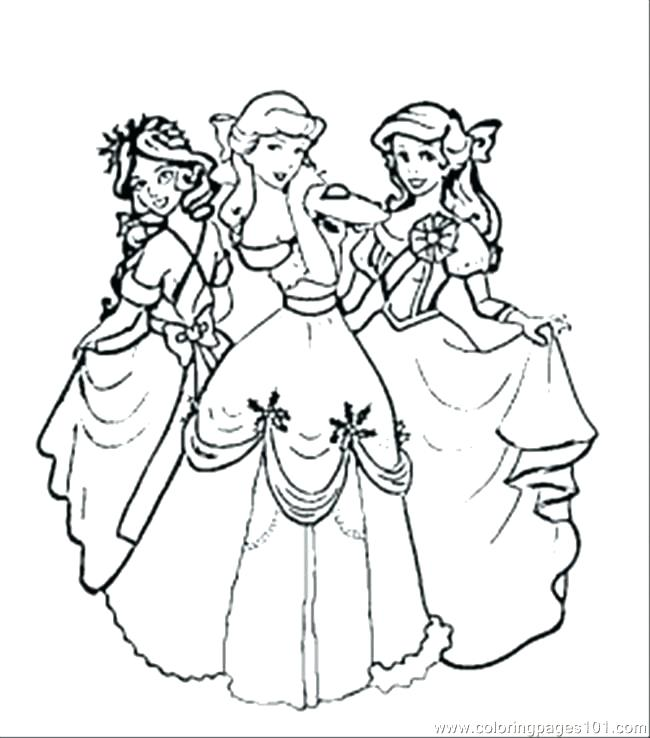 Free Printable Princess Coloring Pages At Getdrawings Com Free For
