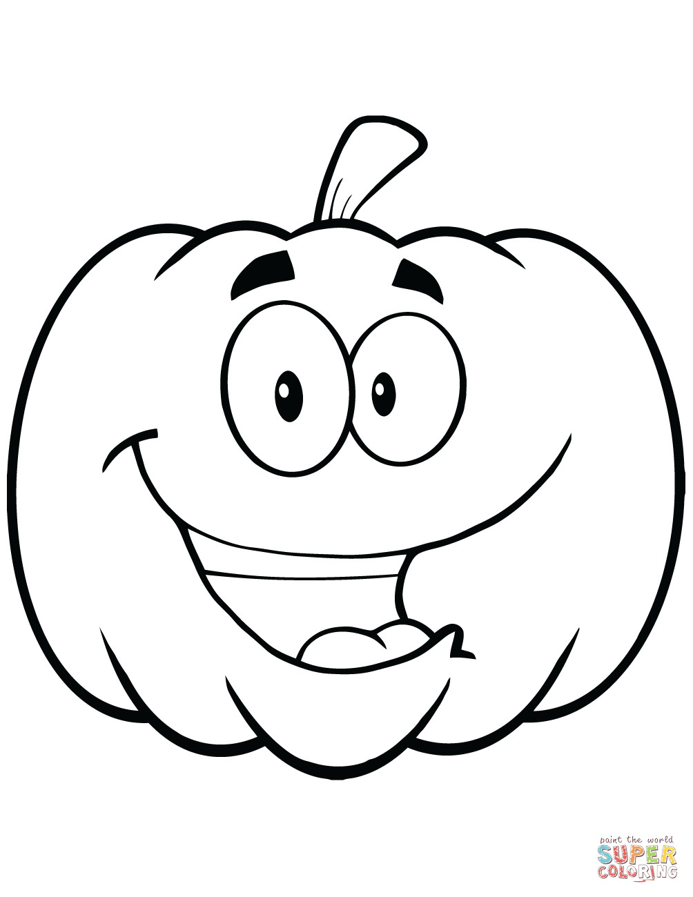 1004x1300 Cartoon Halloween Pumpkin Coloring Page Free Printable Pages