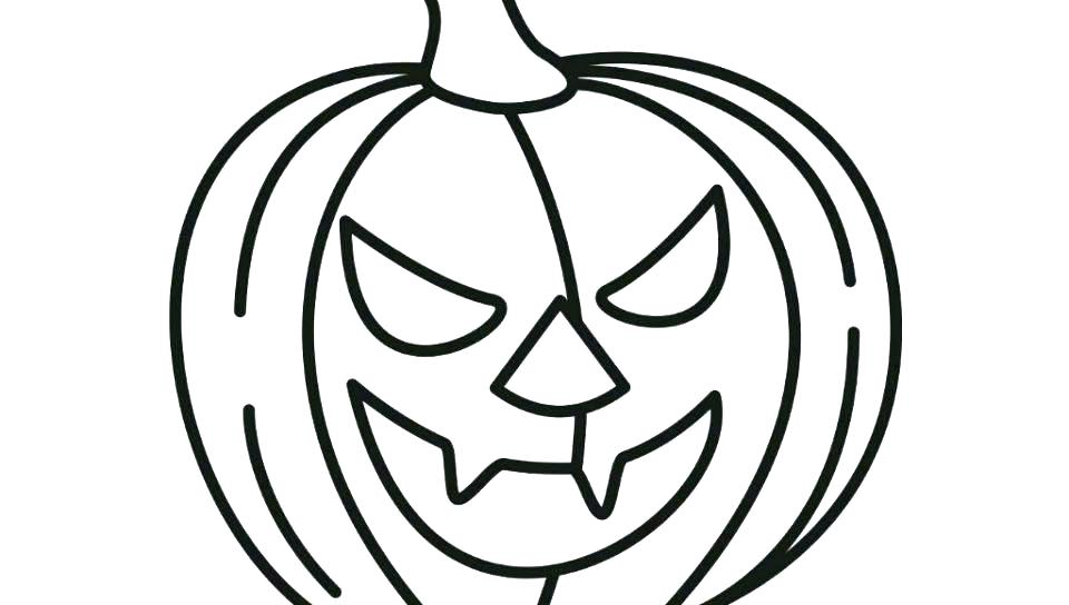 960x544 Pumpkin Coloring Pages Free Printable